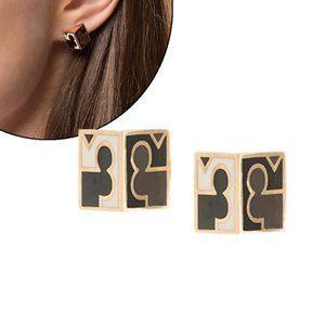 Tory Burch Enamel Three-Dimensional Earrings